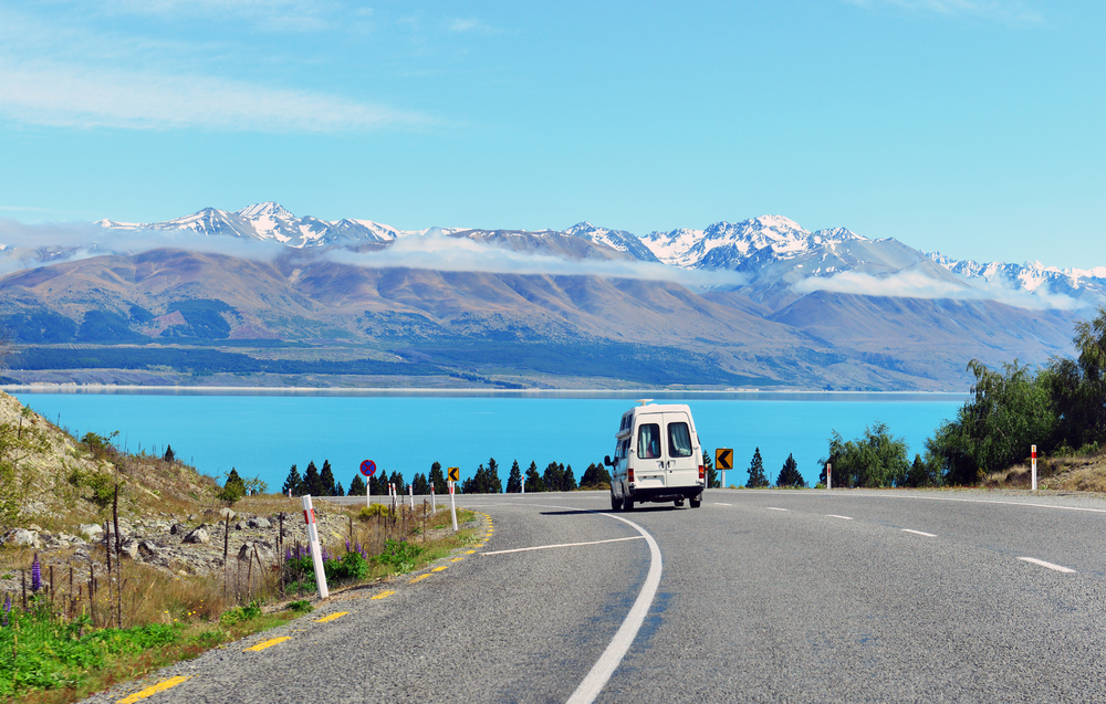 lake-pukaki-and-the-road-leading-to-mount-cook-village-in-new-zealand