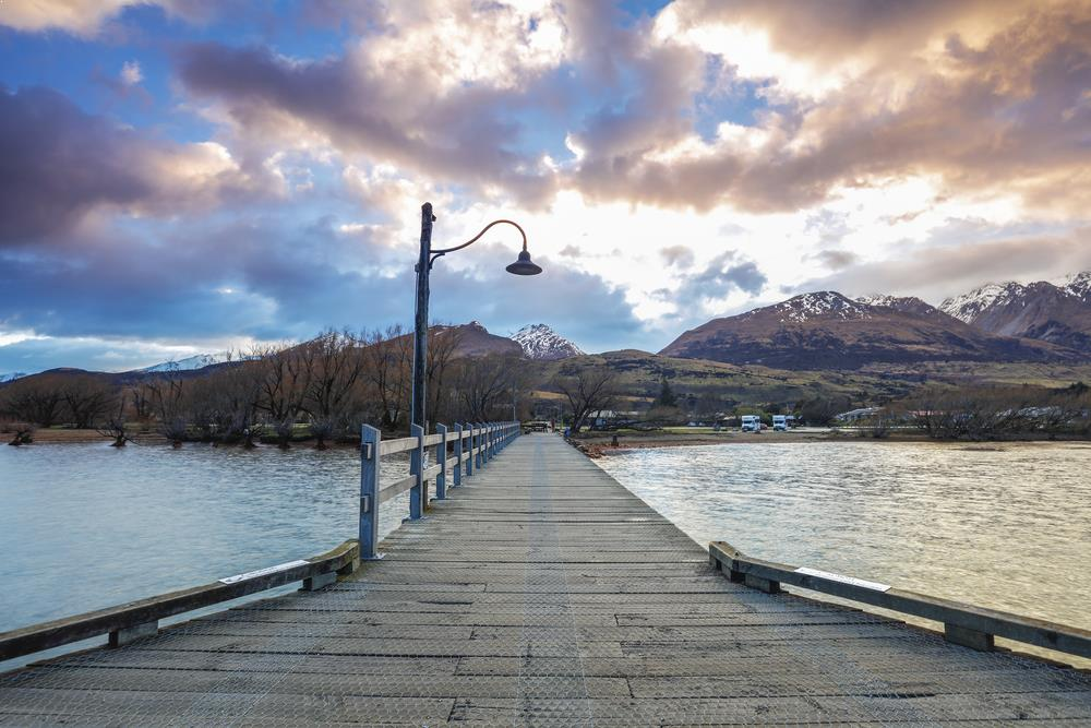 Jetty in Glenorchy, Otago region, New Zealand